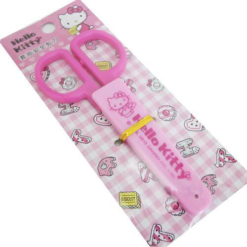 【真愛日本】15061800024 套筒安全剪刀-桃粉 三麗鷗 Hello Kitty 凱蒂貓 文具 正品 限量