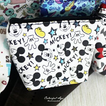 零錢包 正版迪士尼Disney系列皮革收納包/卡夾包 滿版塗鴉人氣卡通圖案 柒彩年代【NS13】可愛單品