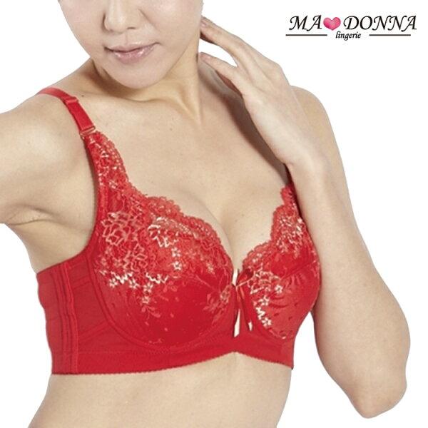 MADONNA:喜運側推托高胸罩C罩1件組2621紅集中托高機能內衣