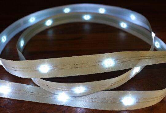 LiTex LED寬版緞帶15mm-白燈系列-中間燈(12色緞帶可選擇) 4
