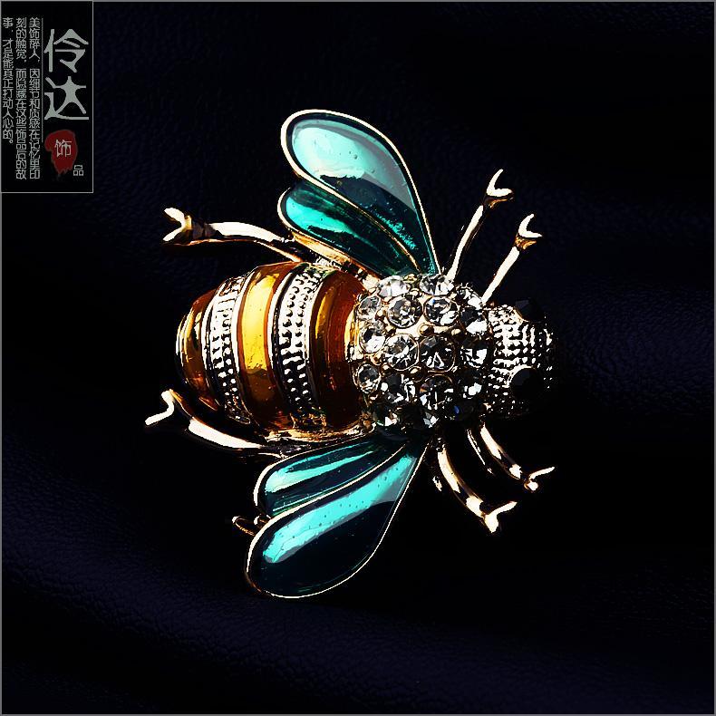 胸花別針 正韓時尚質感小蜜蜂胸針胸花男女配飾情侶西裝別針扣針伶達飾品『XY2907』