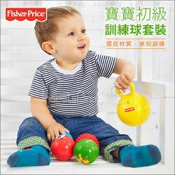 ✿蟲寶寶✿【美國Fisher Price】親子同遊 培養運動好習慣 寶寶初級訓練球套裝組 一組五入