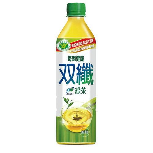 每朝健康雙纖綠茶650ml*24【愛買】