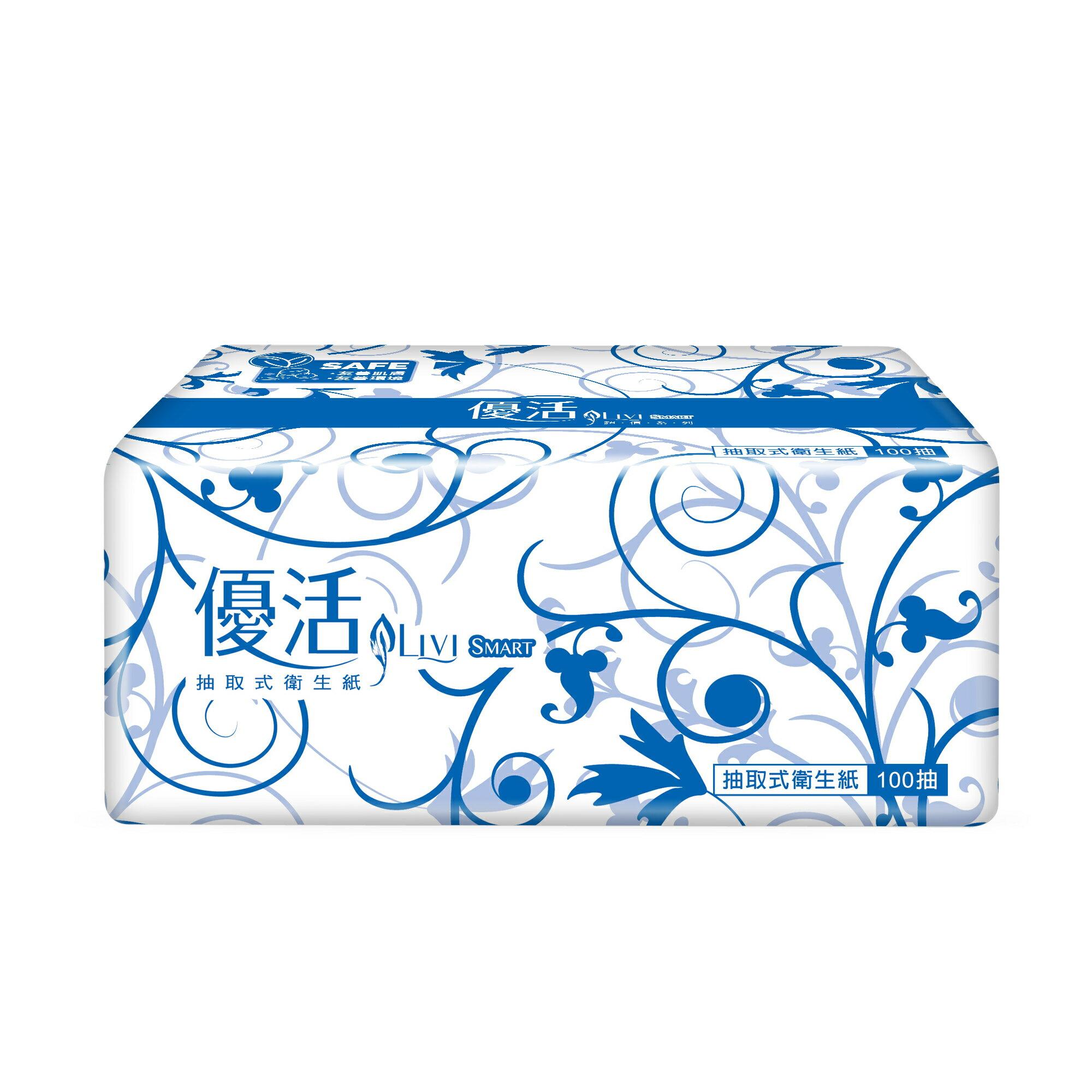 【8/12前 APP領券折後$611】優活抽取式衛生紙(100抽/12包/8袋/箱)