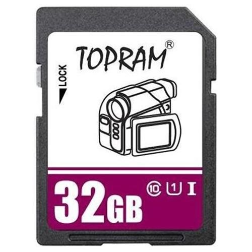 TOPRAM 32GB SD 32G SDHC Card Class 10 Ultra High Speed UHS-I UHS-1 for Camera & Camcorder 0