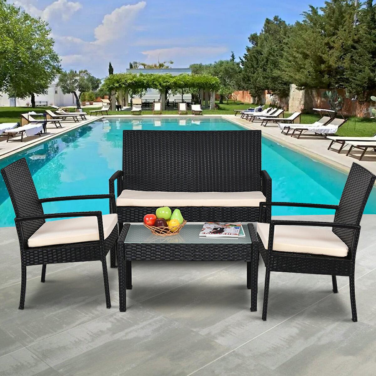 Costway   Rakuten: Costway 4 PCS Outdoor Patio Furniture Set Table ...