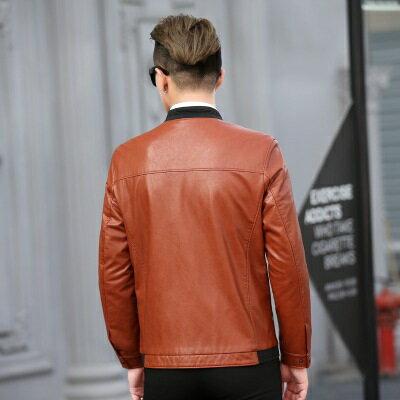 皮衣夾克外套-休閒純色立領冬季男夾克2色73pn27【獨家進口】【米蘭精品】 2