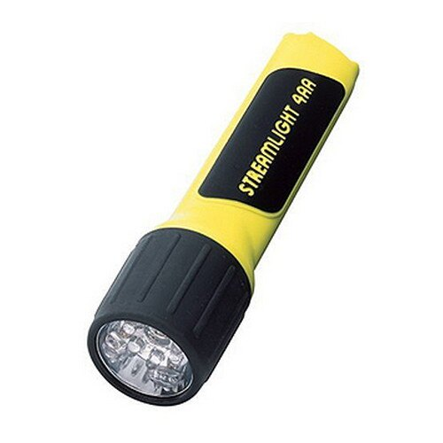 4AA LED w/Alkaline Batteries, Yellow