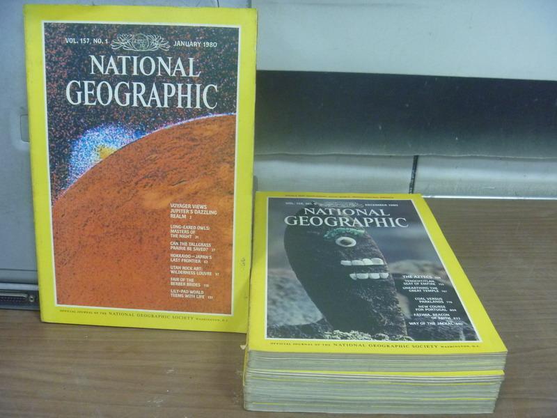 ~書寶 書T3/雜誌期刊_XEO~國家地理雜誌_1980  1~12月間_共8本合售_Th