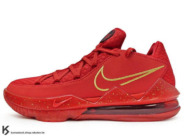 2020 NBA 最新款 LeBRON JAMES 最新代言 菲律賓 TITAN x NIKE LEBRON XVII LOW PH EP AGIMAT 17 JAMES 低筒 全紅 前 REACT 後超大 MAX AIR 氣墊 小皇帝 雷霸龍 KING LAKERS 頂級科技 籃球鞋 (CD5009-600) 0820 0