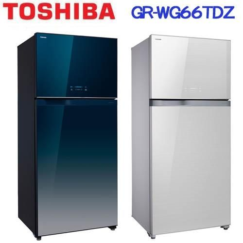 『TOSHIBA』☆東芝608公升變頻玻璃鏡面雙門電冰箱 GR-WG66TDZ **免費基本安裝**