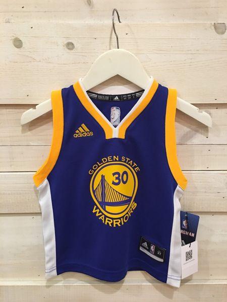 【蟹老闆】Adidas 孩童BABY 球衣 金州勇士隊 golden state 30號 CURRY 2T~4T S~L 另有青年版