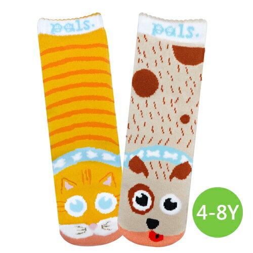 ★衛立兒生活館★美國Pals Socks 好夥伴寶寶襪-狗狗貓貓(4-8Y)