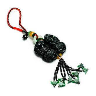 大東山珠寶 墨玉貔貅招財吊飾 開運避邪玉墜