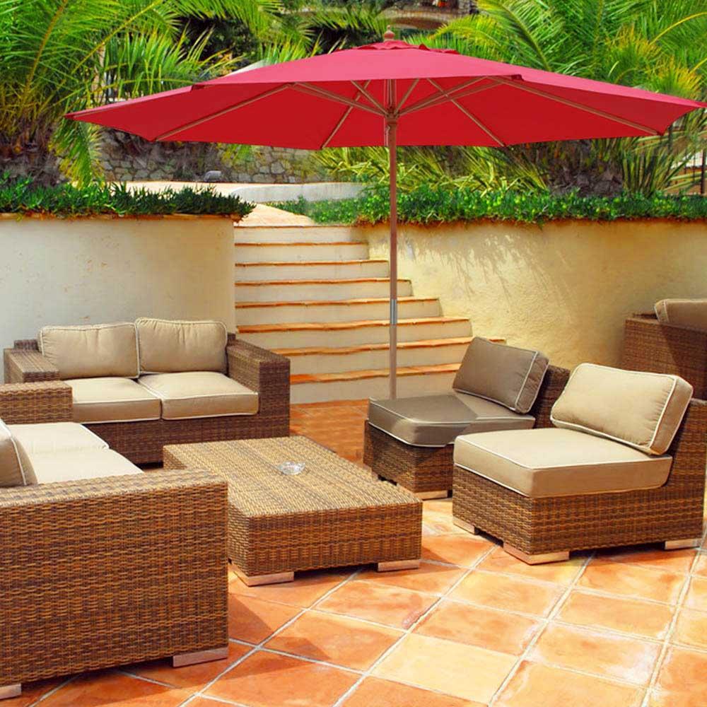 YescomUSA: 13\' XL German Beech Wood Umbrella Patio Outdoor Garden ...