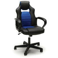 Essentials by OFM Racing Style Gaming Chair- Blue