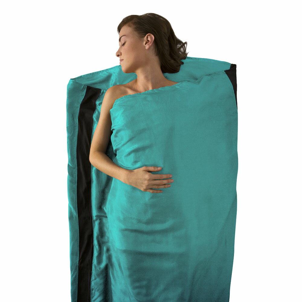 SEA TO SUMMIT\t彈性絲質睡袋內套 標準型 青色\tSTSASILKCSSTDSF\tZ1139\t【Happy Outdoor 花蓮遊遍天下】