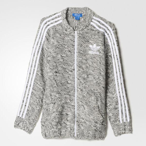 Adidas originals adicolor fashion 女裝 外套 羊毛 針織 雪花 灰色 【運動世界】 AY5246