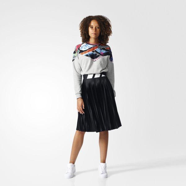 ADIDAS Originals PLEATED SKIRT 女裝 百褶裙 彈性 皺褶 全黑 【運動世界】 BK6187