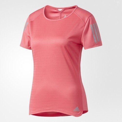 ADIDAS RESPONSE 女裝 短袖 上衣 慢跑 透氣 排汗 反光 粉 【運動世界】 BR2463