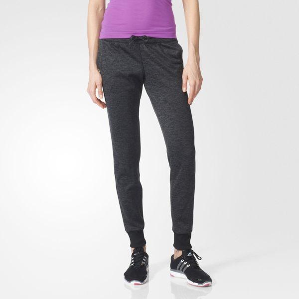 Adidas TEAM SPIRIT女裝 長褲 保暖 排汗 縮口 Climawarm 黑