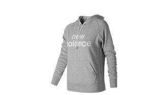 New Balance SEAMLESS 女裝 外套 連帽 棉質 舒適 保暖 灰【運動世界】 WT71599AG