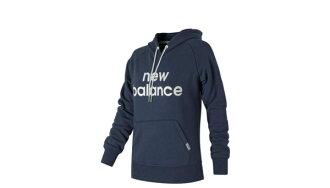 New Balance SEAMLESS 女裝 外套 連帽 棉質 舒適 保暖 藍【運動世界】WT71599NV