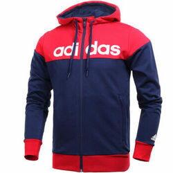 Adidas Jkt Kn Cblock 男裝 外套 連帽 刷毛 美國隊配色 紅藍 【運動世界】 AZ8438