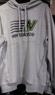 NEW BALANCE Classic 男裝 長袖 上衣 棉質 保暖  連帽 灰【運動世界】  AMT71610HGR