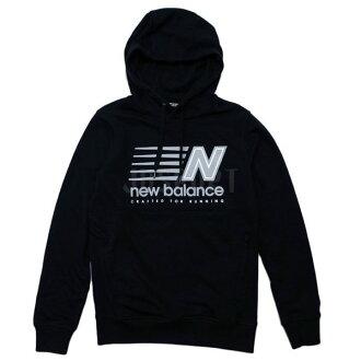 NEW BALANCE Classic 男裝 長袖 上衣 棉質 保暖  連帽 黑【運動世界】 AMT71610BK