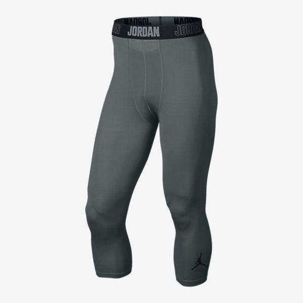 Nike AIR JORDAN ALL Season Compression 男裝 褲子 七分 緊身 健身 訓練 舒適 透氣 灰 【運動世界】 724777-065