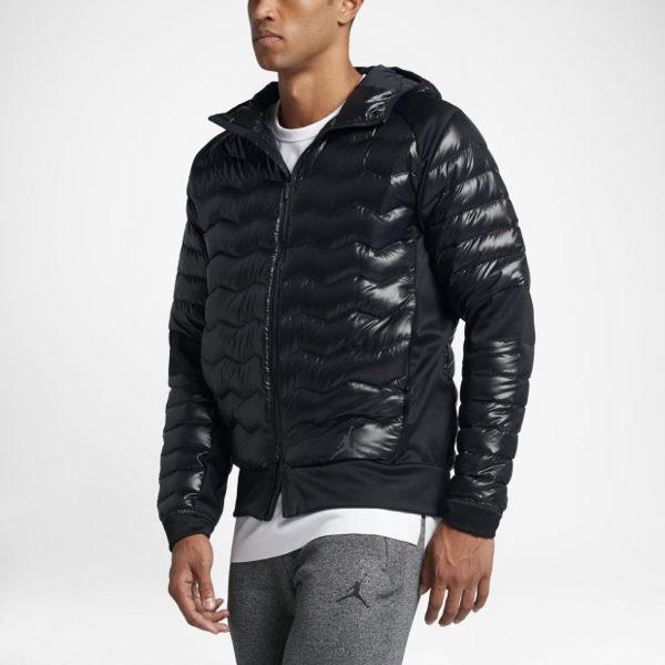 Nike AS JORDAN PERF HYBRID DWN JKT 男裝 羽絨外套 連帽 黑 【運動世界】 807948-010