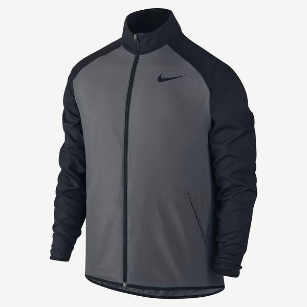 Nike DRI-FIT TEAM WOVEN JACKET 男 運動外套 平織 防潑水 防風 黑灰 【運動世界】800200-021