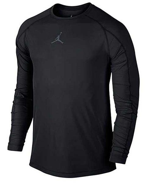 Nike JORDAN AJ ALL SEASON FITTED 男裝 長袖 緊身衣 訓練 籃球 黑 【運動世界】 685815-010