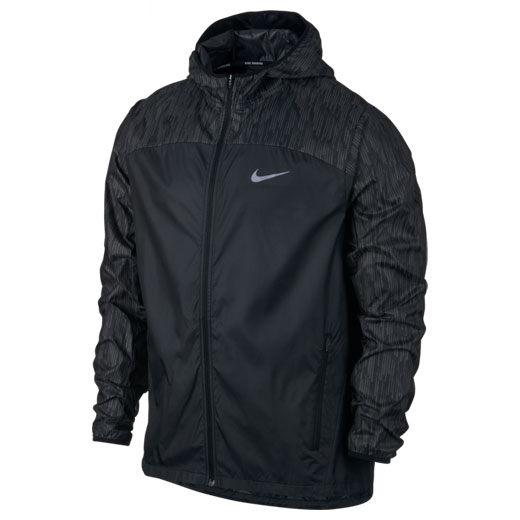 Nike SHLD FLSH JKT HD RACER 男 外套 風衣 連帽 反光 黑色 【運動世界】 800896-010