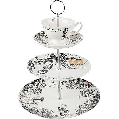 《CreativeTops》V&A茶杯+3層點心盤(夢遊仙境)