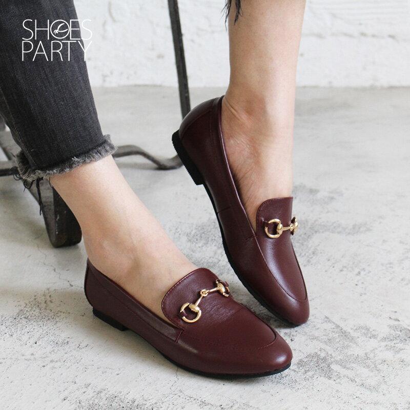 【C2-18129L】真皮鍊條樂福鞋_Shoes Party 2