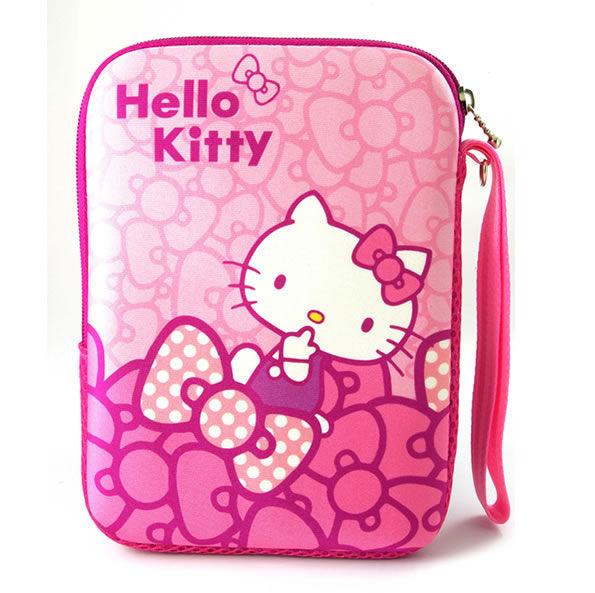 [NOVA成功3C] Hello Kitty SKN-541 精典彈膠型筆電保護袋KT-蝴蝶結粉10.1吋 喔!看呢來