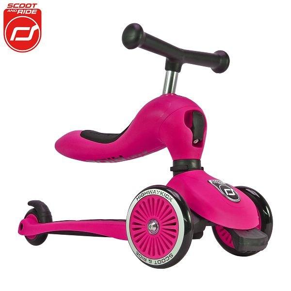 【領券再折】奧地利【Scoot&RideCool】飛滑步車滑板車(粉)