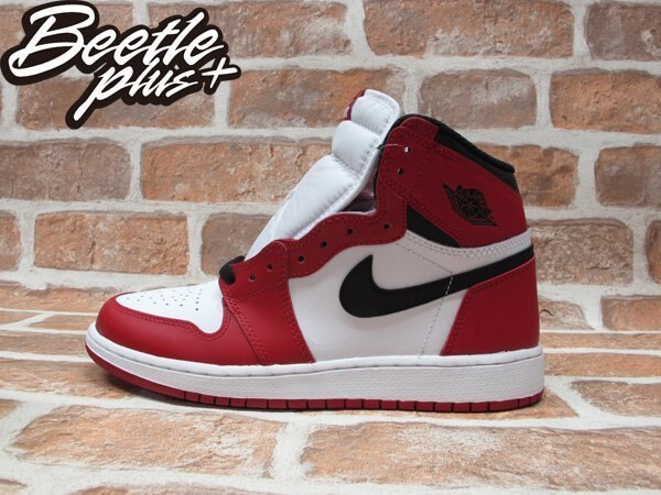 BEETLE PLUS NIKE AIR JORDAN 1 RETRO HIGH OG BG CHICAGO 芝加哥 喬丹 公牛 皮朋 白黑紅 女鞋 575441-101 0