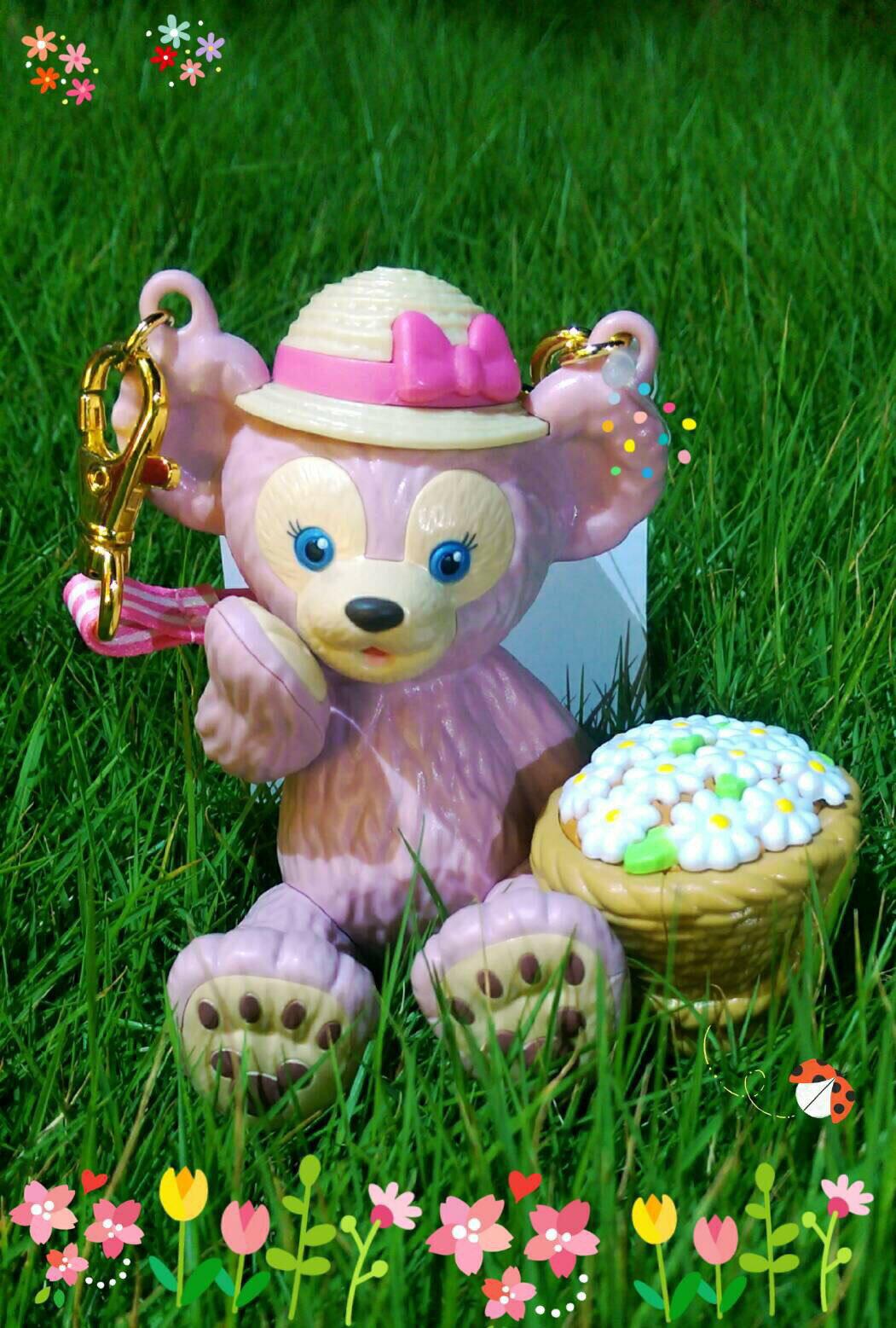【真愛日本】16082700027樂園造型糖果罐附掛繩-雪莉玫花籃  雪莉玫 Duffy 達菲熊&ShellieMay 收納罐 日本帶回