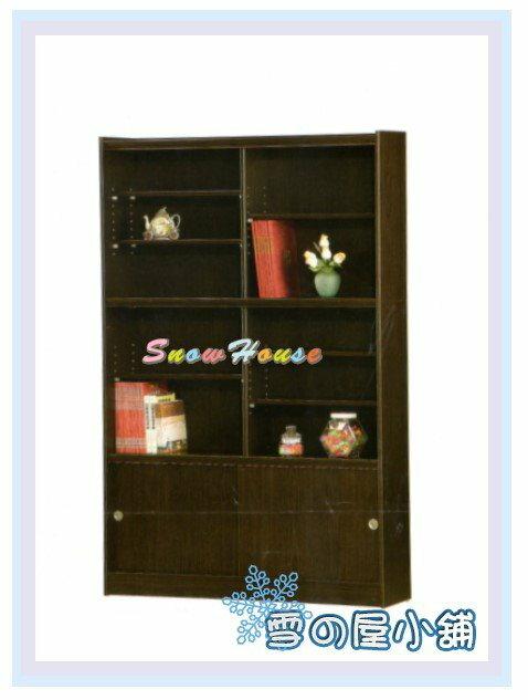 ╭☆雪之屋居家生活館☆╯AA553-09 F-46書櫃(黑胡桃/美背式)上下分座/置物櫃/收納櫃/活動隔板6片、玻璃4片