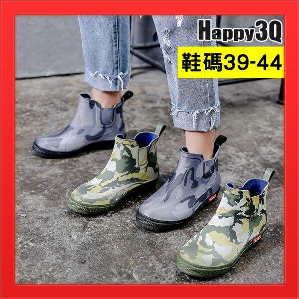 低幫防水雨鞋44雨靴41短筒防水鞋40迷彩風雨鞋子39-灰綠39-44【AAA4681】