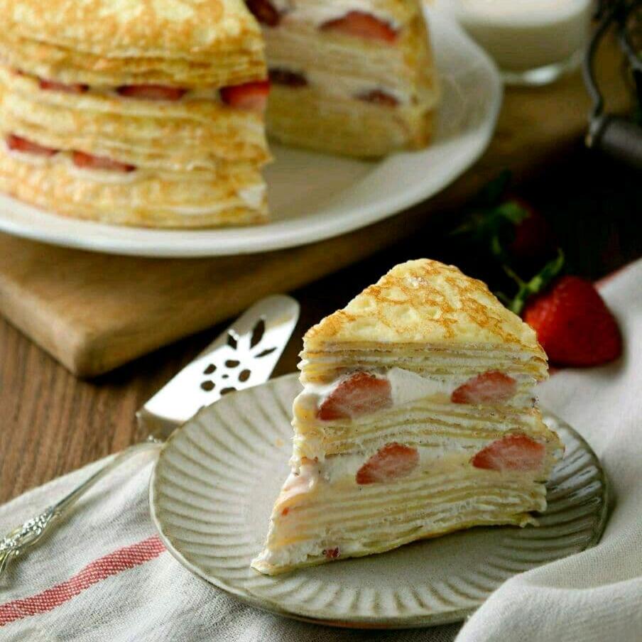 冬季限定【草莓千層蛋糕】6吋