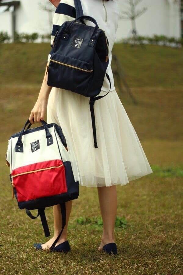 【日本anello】ANELLO 雙肩後背包 《小號》- 紅白【滿3000領券現折300】 2