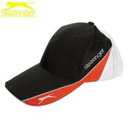 【H.Y SPORT】SLAZENGER 透氣式專業網球帽5003259 休閒帽 棒球帽 運動帽 休閒帽 黑橘