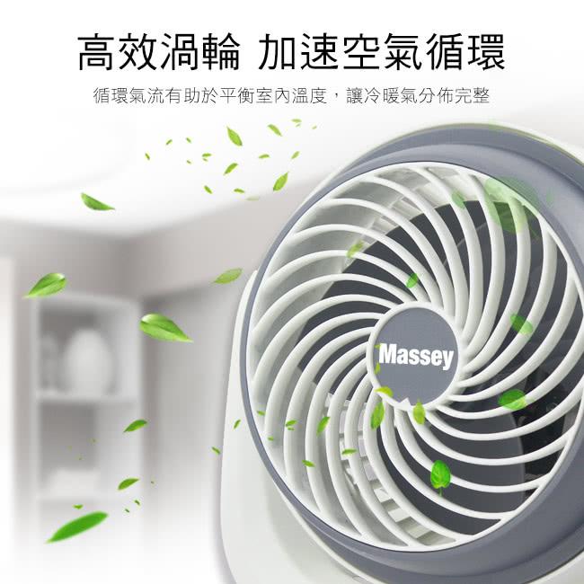 【Massey】7吋靜音循環扇(MAS-717) 輕巧扇