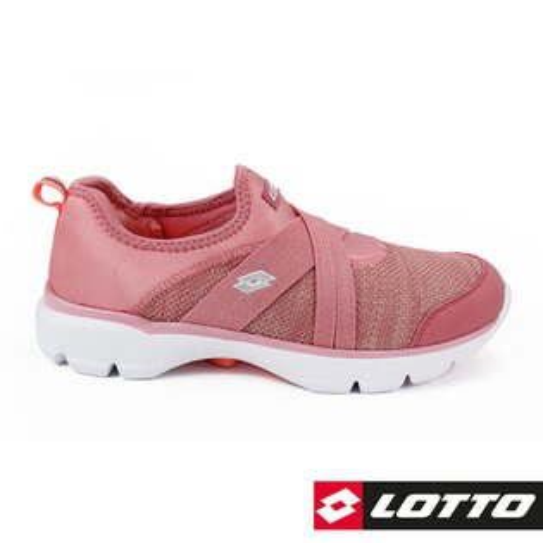 【巷子屋】義大利第一品牌-LOTTO樂得女款EASYWEAR樂活輕跑鞋SOQPAD鞋墊[6743]玫瑰粉超值價$890