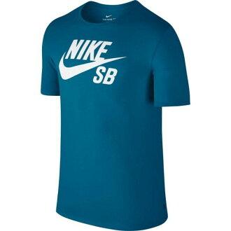 NIKE SB LOGO T-SHIRT 男裝 短袖 上衣 休閒 舒適 藍綠 【運動世界】 821947-457