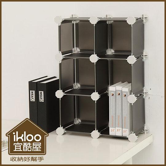 Loxin【SL1087】5.8吋ikloo迷你桌上6格收納櫃 創意組合收納櫃 兒童鞋櫃 桌上收納盒